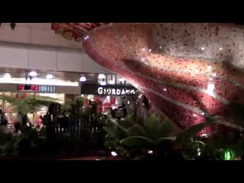 Singapore Best Airport.  Walk through 1,2,3 Terminal HD & Skytrain ride