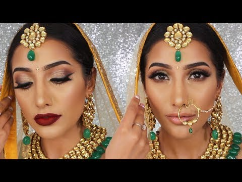 Indian Bridal Soft Glam Makeup - 2 LIP OPTIONS