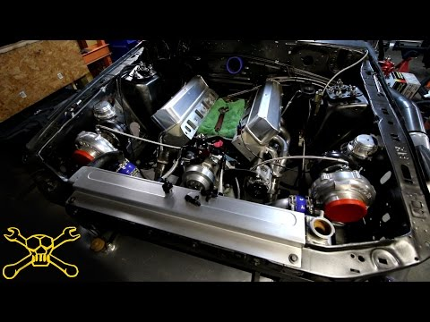 Chevy C10 & The Twin Turbo Gets Oil