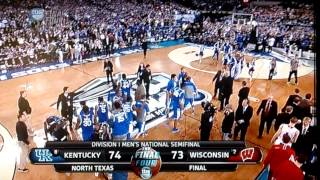 End of Kentucky vs. Wisconsin Final Four