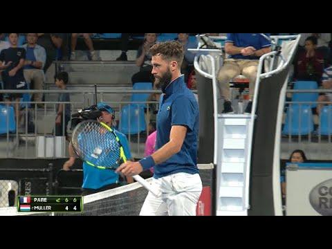 Benoît Paire v Gilles Müller Match Highlights (QF) | Sydney International 2018