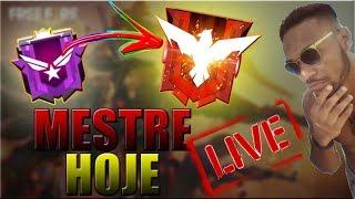 FREE FIRE AO VIVO PEGANDO MESTRE SOLO HOJE   MOUSE PAD NOVO!  (LIVE)