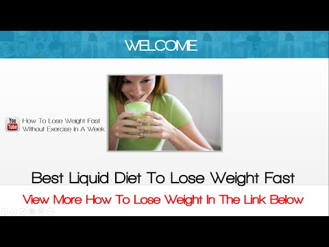 Best Liquid Diet To Lose Weight Fast