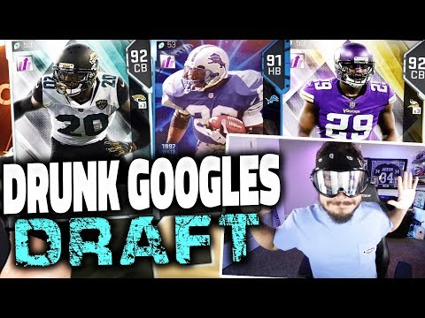 DRUNK GOGGLES GAMEPLAY!! YOU WONT BELIEVE THIS  MADDEN 19 DRAFT CHAMPIONS