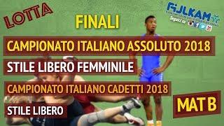 LOTTA CAMPIONATO ITALIANO ASSOLUTO SL FEMM. - CADETTI SL 2018 - FASI FINALI - MAT B