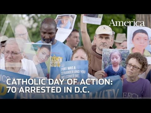 Catholics arrested in D.C. protesting Trump's immigration policies