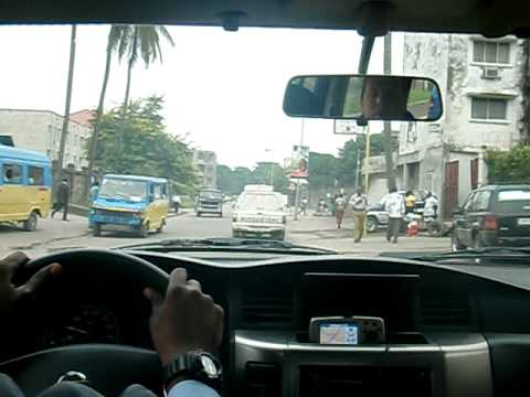 Downtown Kinshasa car ride, in the Democratic Republic of Congo