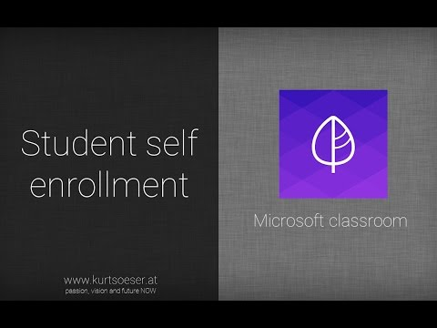 student self enrollment into microsoft classroom courses