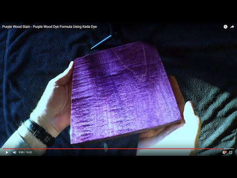 Purple Wood Dye Stain Using Keda Dyes Colors Formula