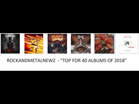 Top 40 Rock and Metal Albums of 2018 - by RockAndMetalNewz