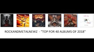 Baixar Top 40 Rock and Metal Albums of 2018 - by RockAndMetalNewz
