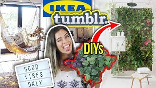 Tumblr Zimmer Decor! XXL IKEA Haul & DIY Boho Room Tour Hack
