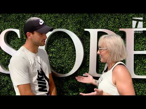 #GameSetMattek Grigor Dimitrov 2017 US Open Media Day