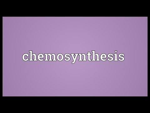 difference between chemosynthesis