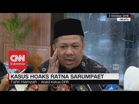Fahri Hamzah Puji Langkah Cepat Polisi Ungkap Hoaks Ratna Sarumpaet