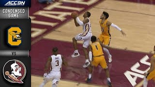 canisius vs florida state condensed game 2018 19 acc basketball