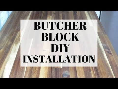HOW TO INSTALL A BUTCHER BLOCK COUNTER TOP | DIY COUNTER