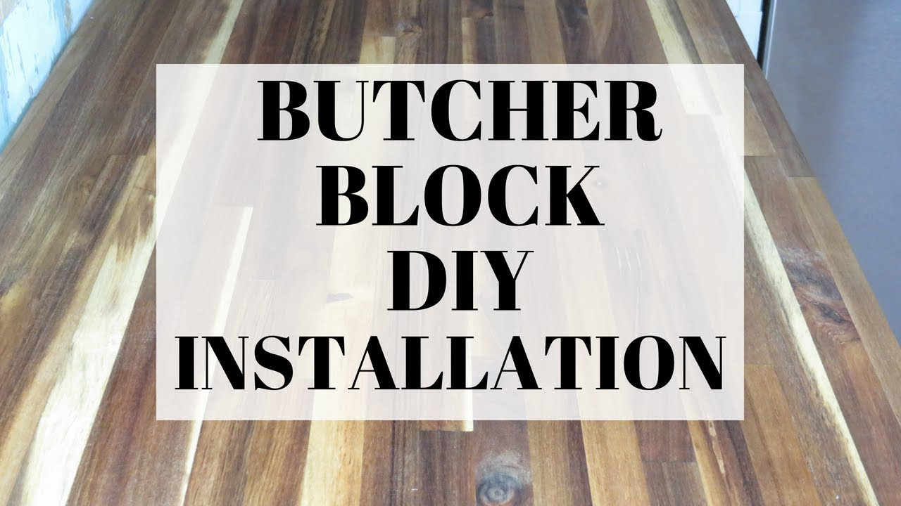 How To Install A Butcher Block Counter Top Diy Counter