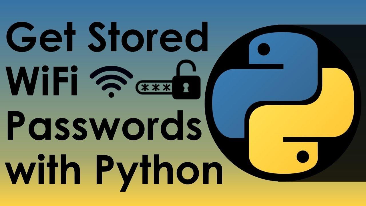 Get WiFi Passwords With Python - Nitratine
