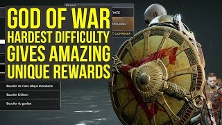 God of War Secrets - Hardest Difficulty Gives AMAZING UNIQUE REWARDS (God of War 4 Best Gear)
