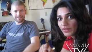 Nadia Ali in the studio with Morgan Page