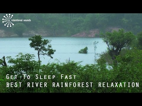 Get To Sleep Fast - BEST RIVER RAINFOREST RELAXATION (by ➠Intentional Sounds, Relaxation Series )