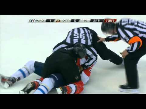 Evander Kane/Erik Karlsson full incident + Neil fights Kane