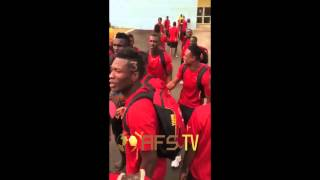 AFS TV | Ghana players singing before Quarter-Final game vs Guinea AFCON 2015