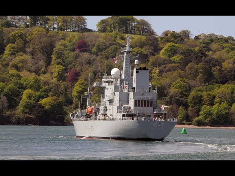 ROYAL NAVY SURVEY SHIP HMS SCOTT H131 RETURNS HOME TO DEVONPORT AFTER REFIT AND OVERHAUL AT FALMOUTH