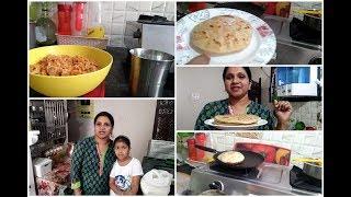 Saturday evening routine/Making pole/bobbatlu/Indian Mom Busy Lifestyle