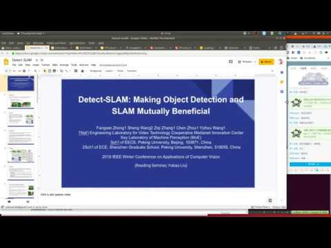 Detect-SLAM: Making Object Detection and SLAM Mutually Beneficial (Reading Seminar)