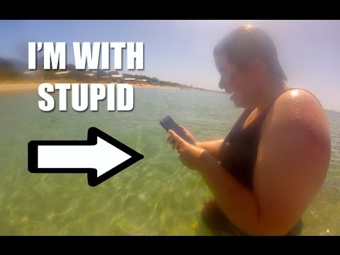 SHE TOOK HER PHONE INTO THE OCEAN