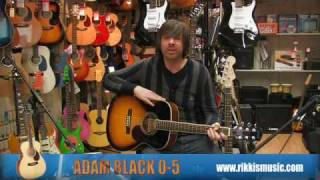 Adam Black 0-5 Acoustic Guitar Review by Rikki