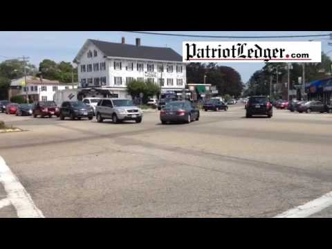 Traffic in Columbian Square in Weymouth