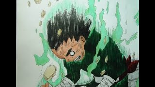 Drawing / Dibujando a Rock Lee (Naruto)