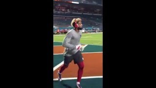 Odell Beckham Jr. Practices One-Handed Catch (Pre-Game) | Giants vs. Dolphins | NFL