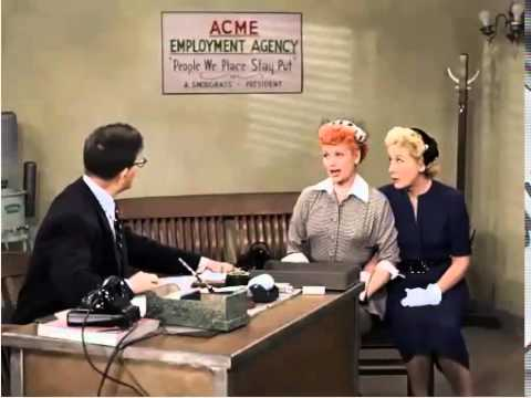 I Love Lucy Job Switching Episode Youtube