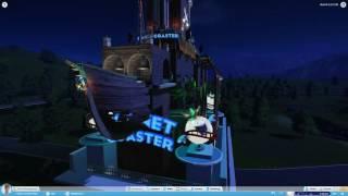 Planet Coaster #1 플래닛 코스터 해적테마 건물만들기 야간영상