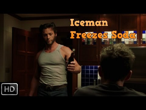 X2: X Men United - Iceman freezes up Wolverine's soda (Funny Scene) [1080p] [English]