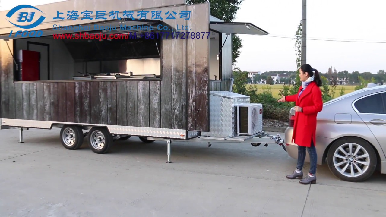 Mobile Kitchen Trailer Unfinished Pantry Stainless Steel Food Kiosk ...
