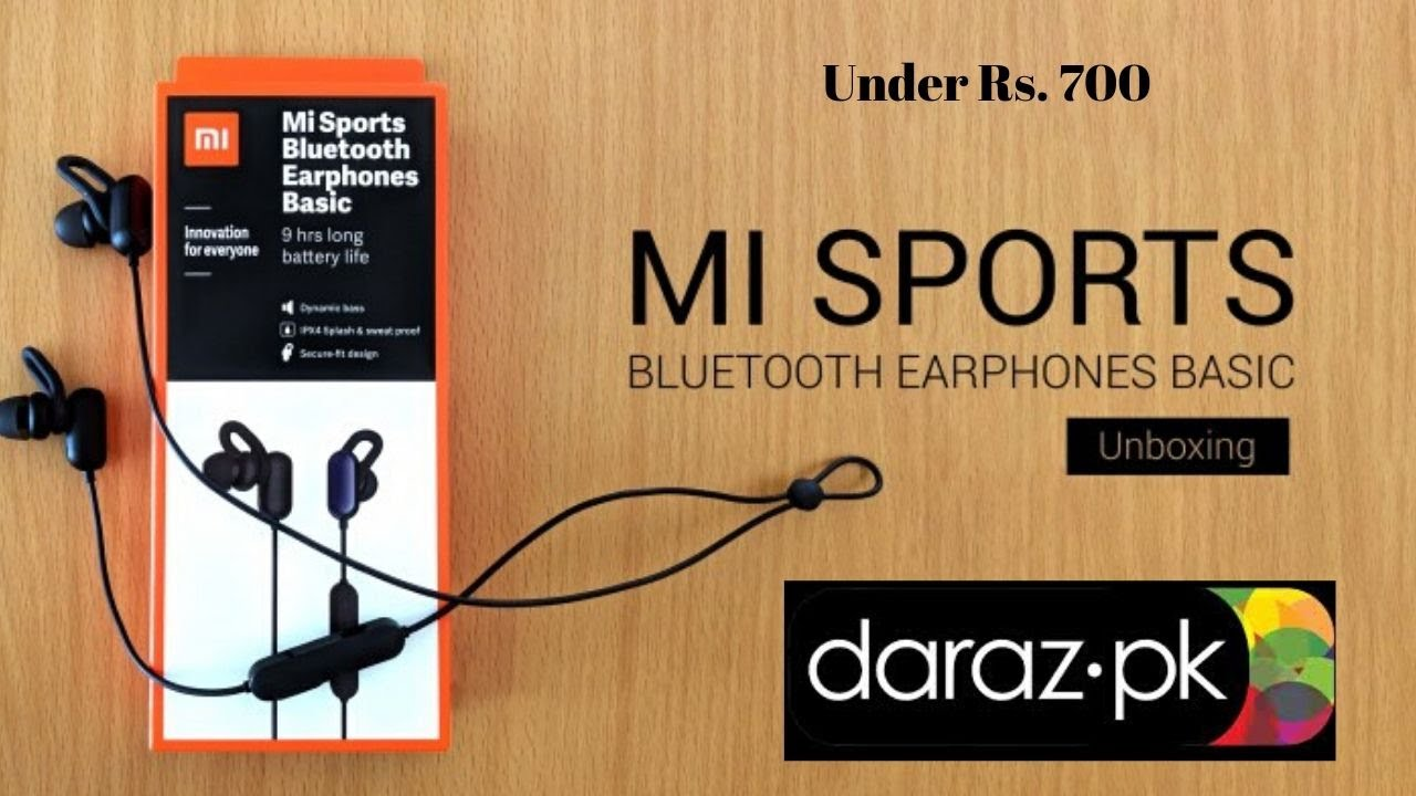 Mi Sports Bluetooth Earphones Basic Unboxing Review M Farooq Official Youtube