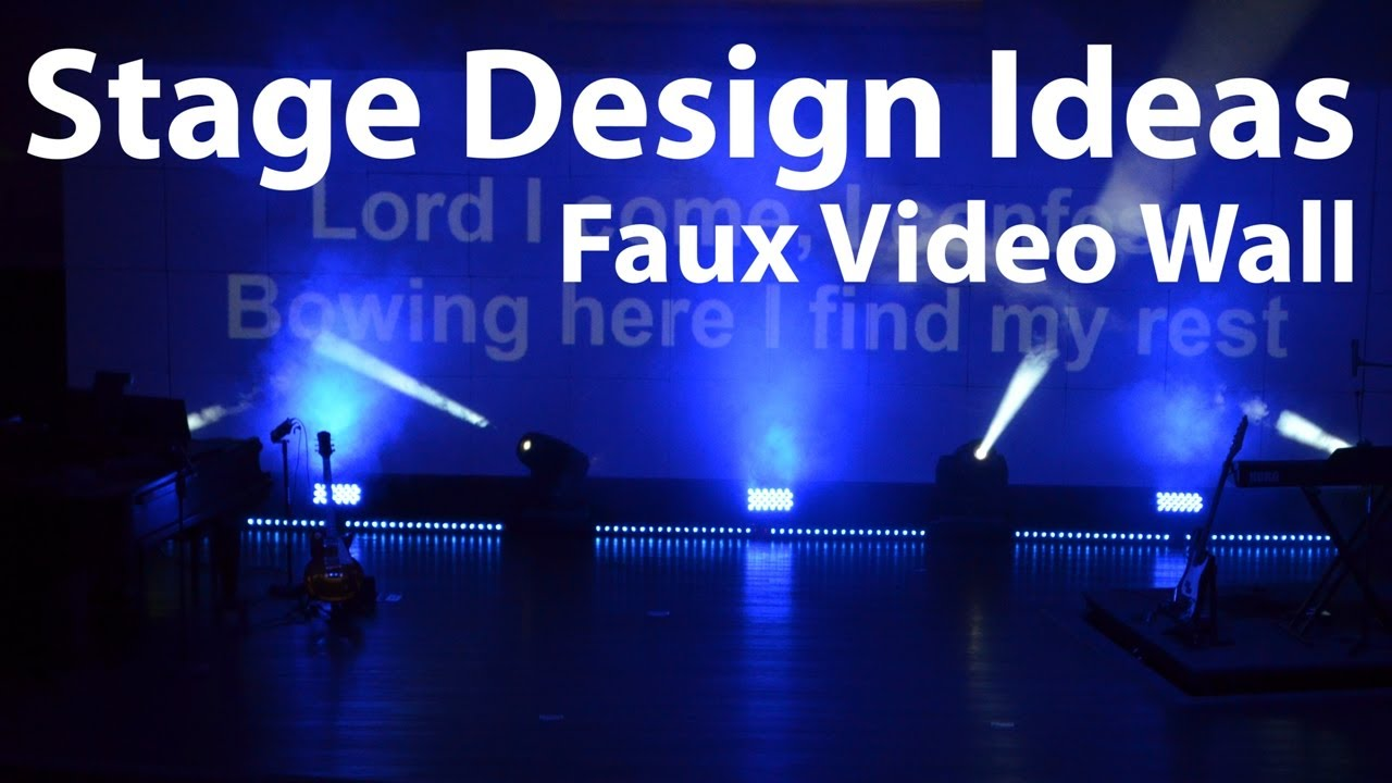 church stage design ideas faux video wall - Church Design Ideas