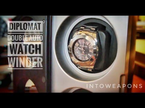 Steinhausen round 4-mode single plastic watch winder