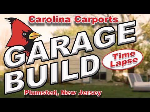 Carolina Carports Metal Garage Shop Build time lapse