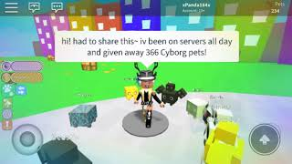 Gave Away 366 Cyborg Pets Free! ~Roblox Pet Simulator~ And Got 2 New Additions To The Collection!