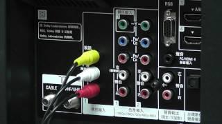 131 安裝 電視背面 AV端子