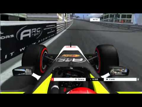 rFactor F1 2012 Sim Racing Zone RF1 Monaco Grand Prix Full Race Broadcast