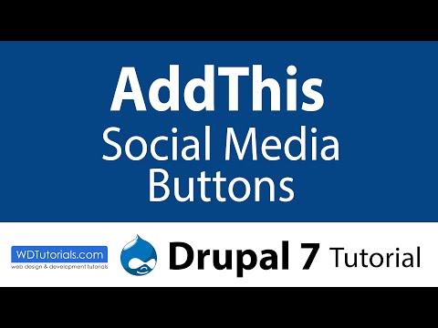 Addthis Social Media Buttons (Drupal Tutorial)