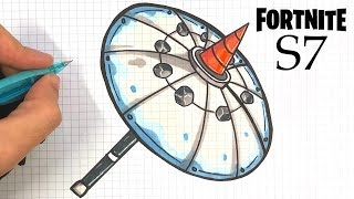 HOW TO DRAW TOP 1 UMBRELLA (FORTNITE AXE)