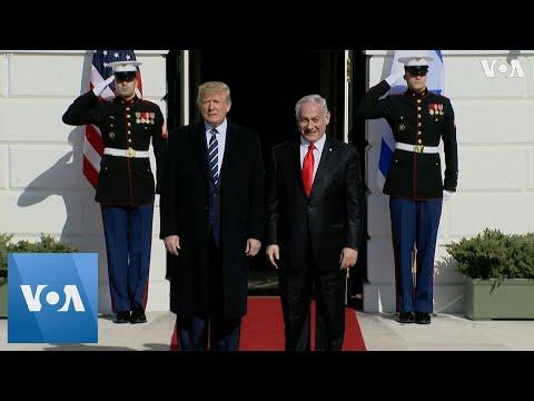 US President Trump Welcomes Israel PM Netanyahu To White House